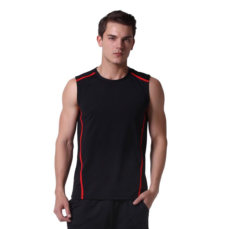 健身服短袖男背心速乾衣運動跑步t恤緊身籃球訓練坎肩夏季上衣服