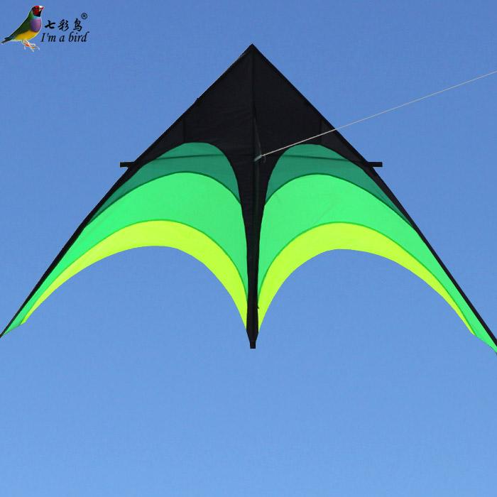 濰坊風箏 2米/2.8米傘布大草原三角風箏 清新亮麗 包郵