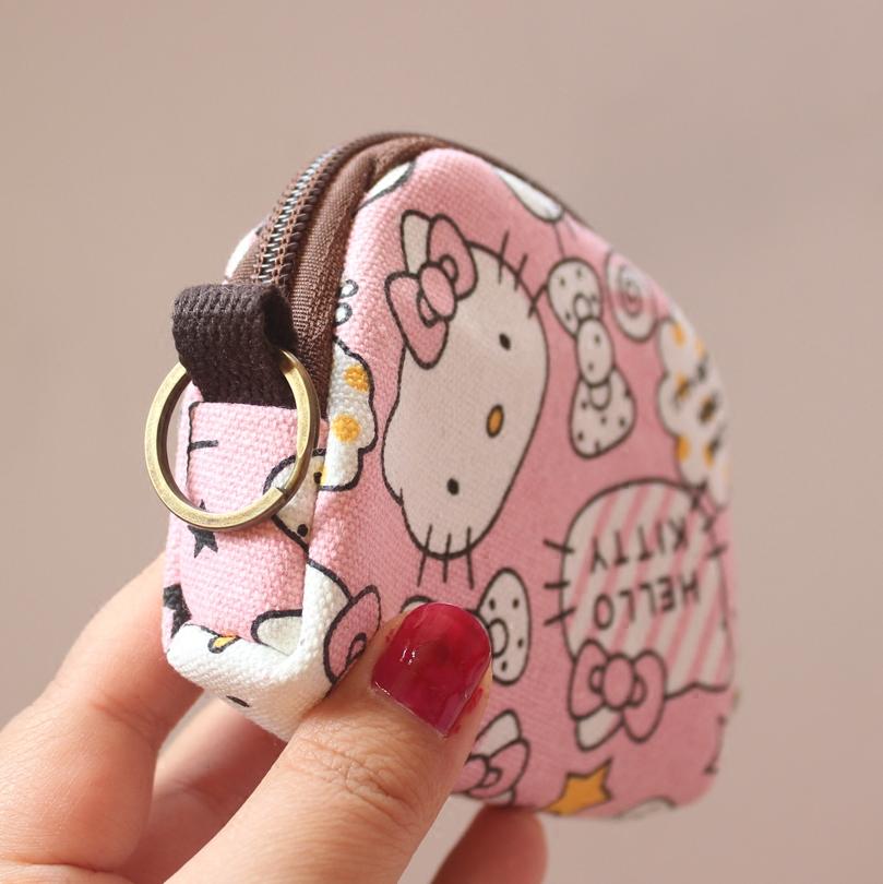 新款零钱包硬币包卡包迷你小零钱包帆布小包硬币零钱钥匙挂件小包