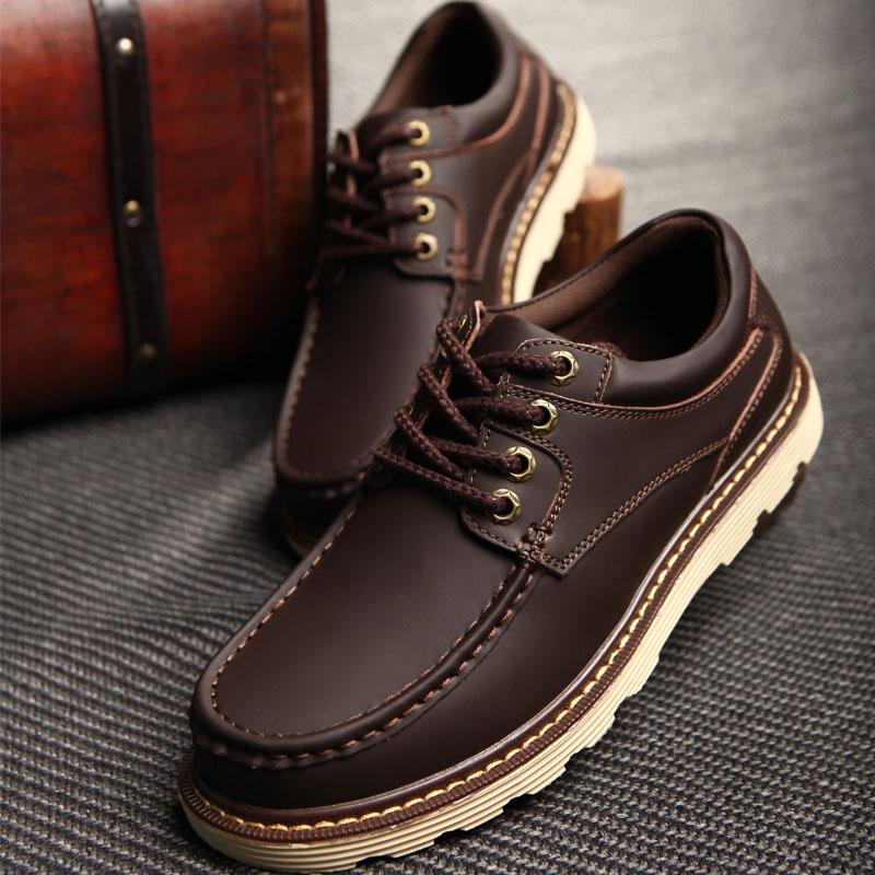 男鞋夏季45工裝鞋男士休閒鞋47特大碼真皮大頭鞋英倫46碼復古皮鞋