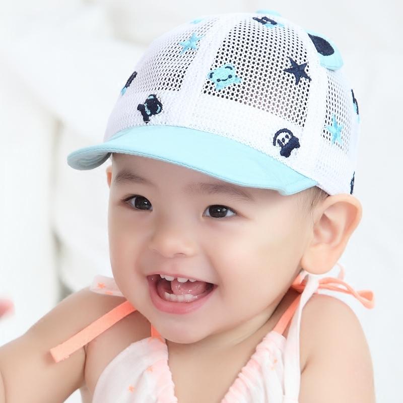 嘟嘟啦夏季宝宝儿童帽子婴儿鸭舌帽幼儿网帽男女棒球遮阳凉帽薄款