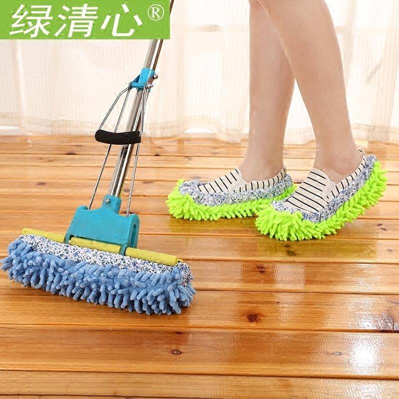 拖布懶人拖地鞋子抹布擦地鞋套拖把地板可拆洗擦地拖鞋套一雙包郵