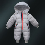 Children's down jacket baby coat baby thickened winter clothes romper climbing clothes boys and girls white duck down one-piece down jacket