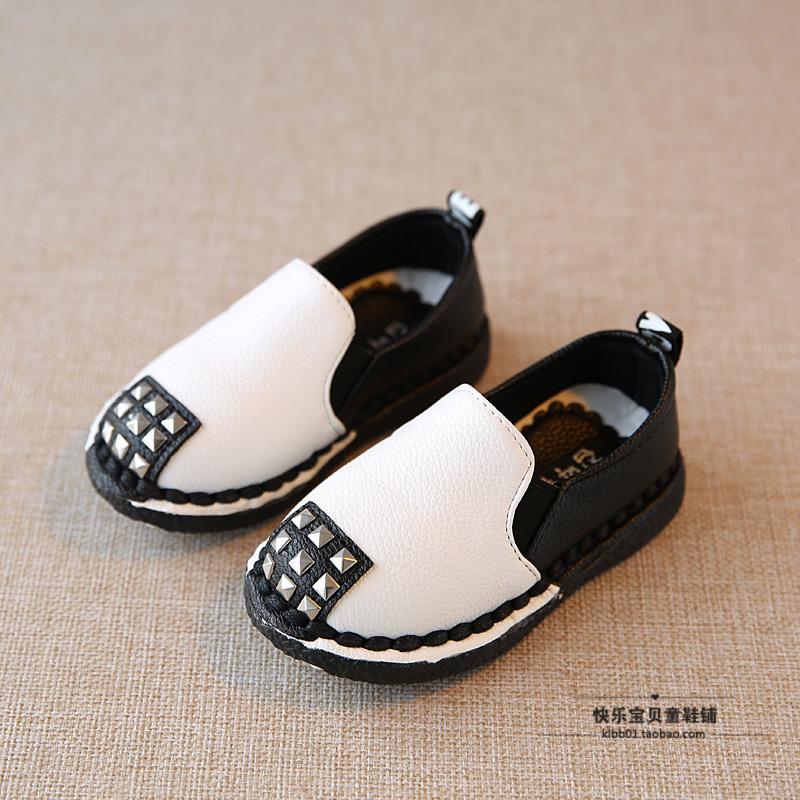 宝宝豆豆鞋男潮1-3岁 韩版 儿童皮鞋2019春秋男女童鞋软底小孩鞋