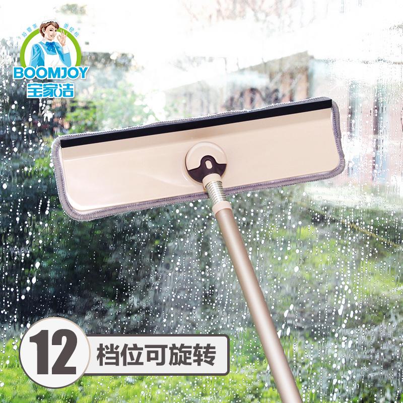高層搽洗擦玻璃窗戶工具清洗刮水刀專業器家用雙面清潔伸縮杆神器