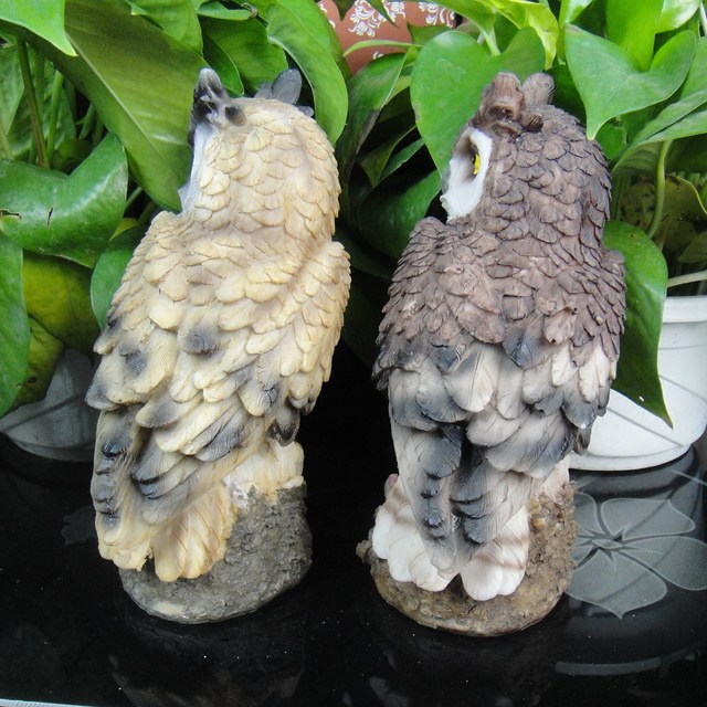 Imitation owl resin ornaments, guarding succulents and anti-bird artifacts, home accessories, gardening potted plants