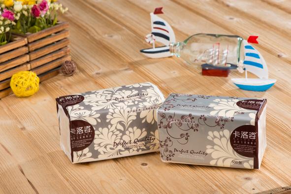 廣東省內包郵卡洛姿輕羽飛柔系列3層紙巾抽取式面巾紙500張* 80包