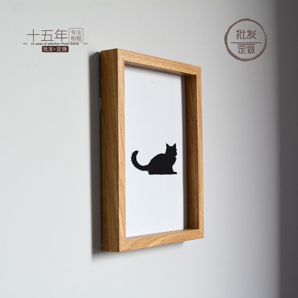 相框定製掛牆擺臺深厚立體裝飾框畫框現代原木色清新10寸16寸A4