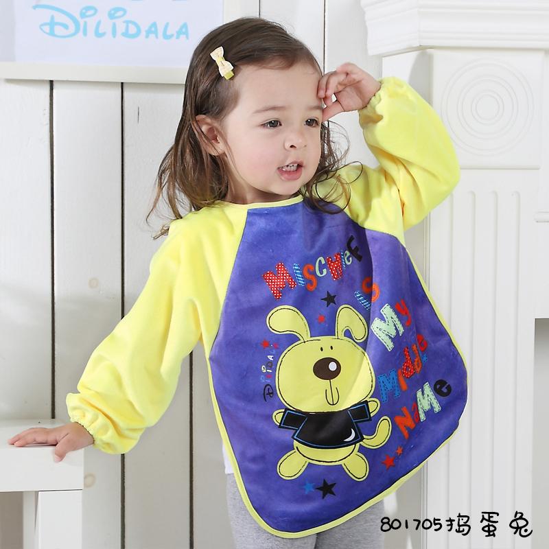 宝宝吃饭罩衣男女儿童罩衣反穿衣护衣婴幼儿吃饭衣画画衣一体