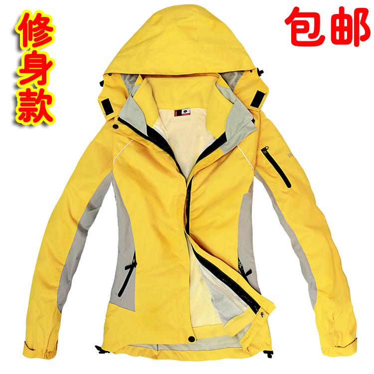 正品戶外衝鋒衣女含抓絨兩件套防雨防風防水透氣三合一外套登山服
