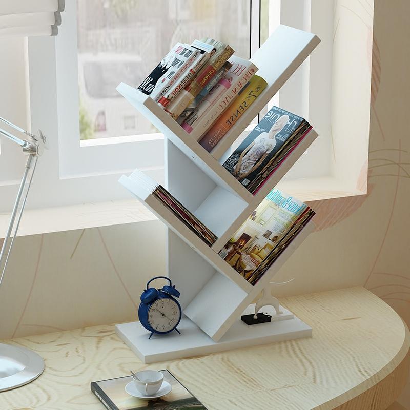 桌面小书架置物架宿舍学生桌上书架小型办公收纳架床头柜上储物架