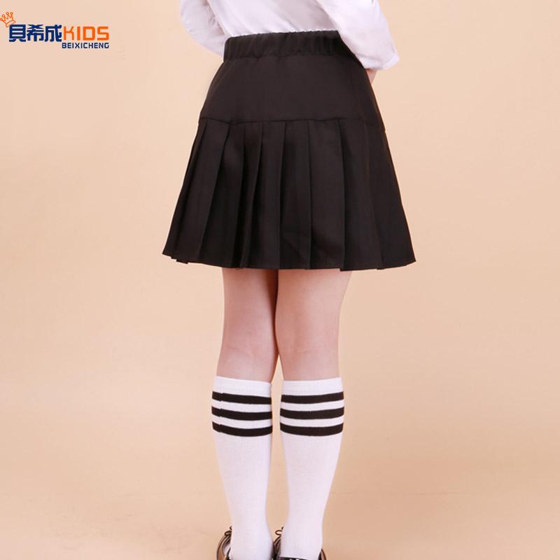 童装新款女童短裙半身裙夏儿童宝宝百褶裙中大童小学生演出校服裙