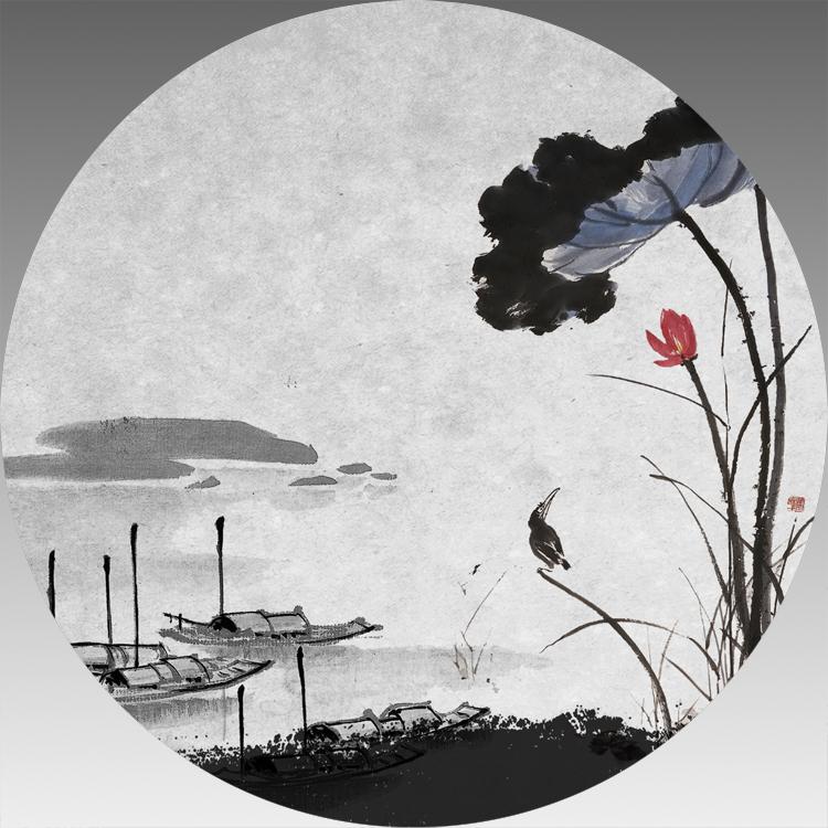德化三盛陶瓷吸水杯墊廠家直銷定製定做中國山水畫10.35畢業設計