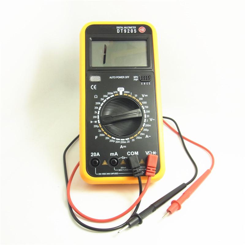 DT9205 數字表 可調萬能表 大螢幕 配對錶紅黑筆 全新現貨
