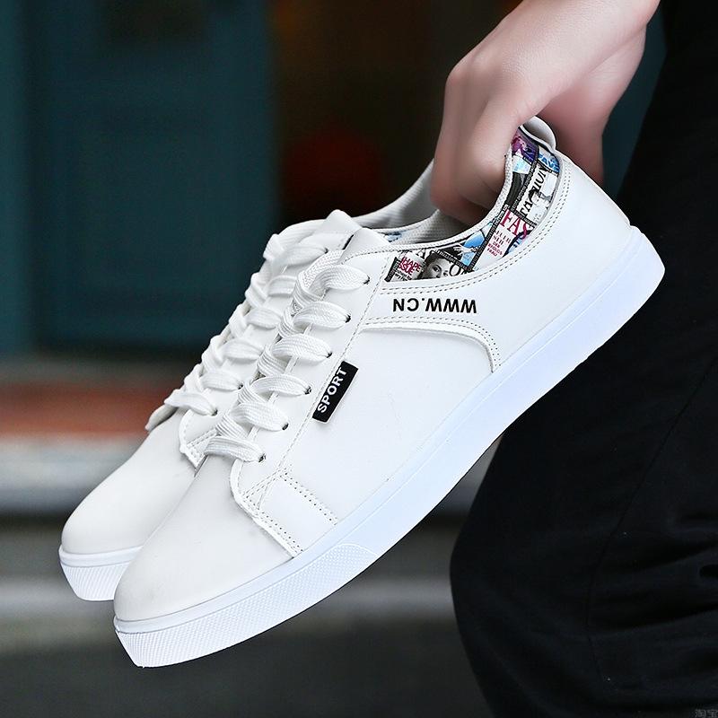 帆布板鞋青年学生运动跑步鞋平底小白鞋子男淘宝开网店一件代发货