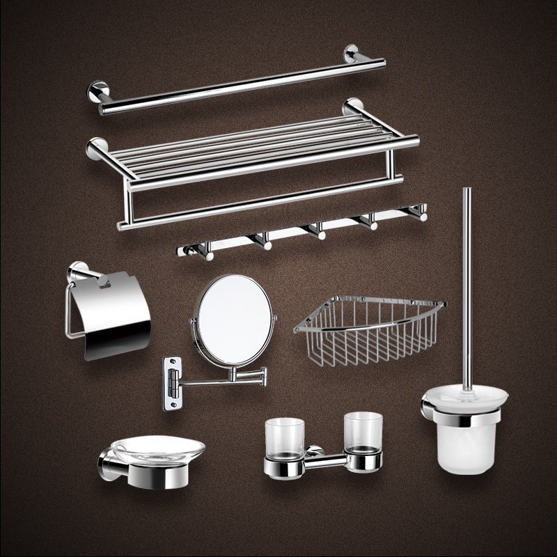 Buy Ac Silver Crystal Platen Double Towel Bar Towel Rack Towel Rack - Where to buy bathroom hardware