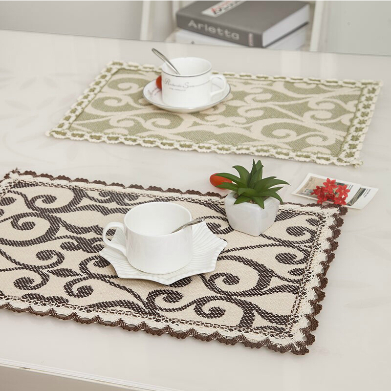 Ant Nest Lace Cotton Cloth Placemat Table Mat Insulation