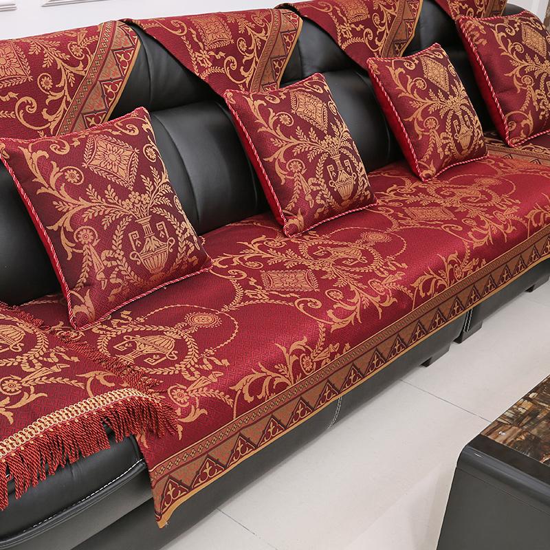 Athena european upscale leather sofa cushion four seasons fabric sofa  cushion slip wood sofa cushion sofa cushion customized sets of towels