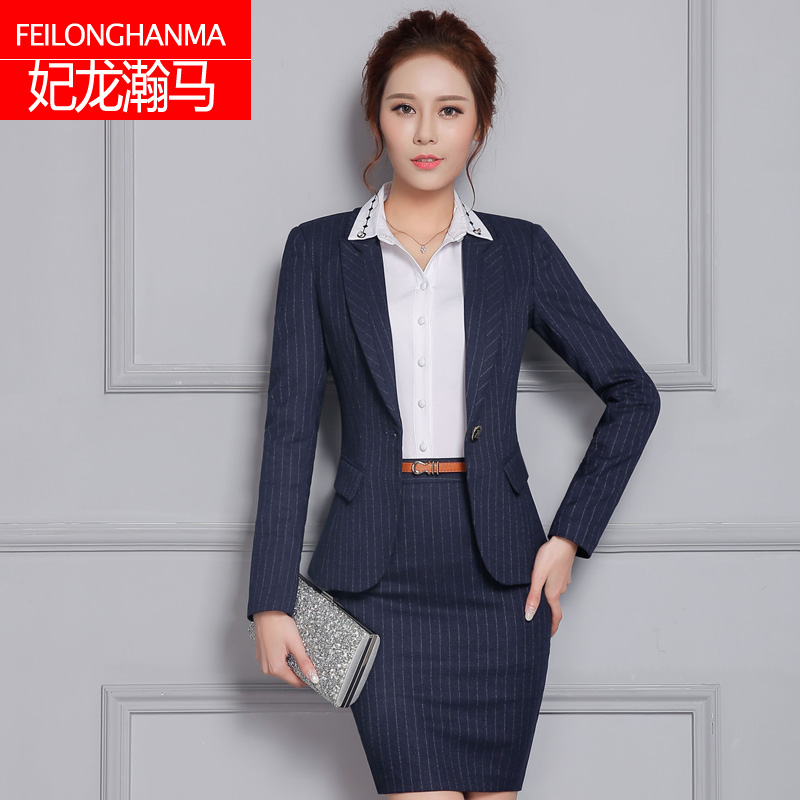 Buy Autumn 2016 New Tooling Overalls Female Suit Navy Blue Striped