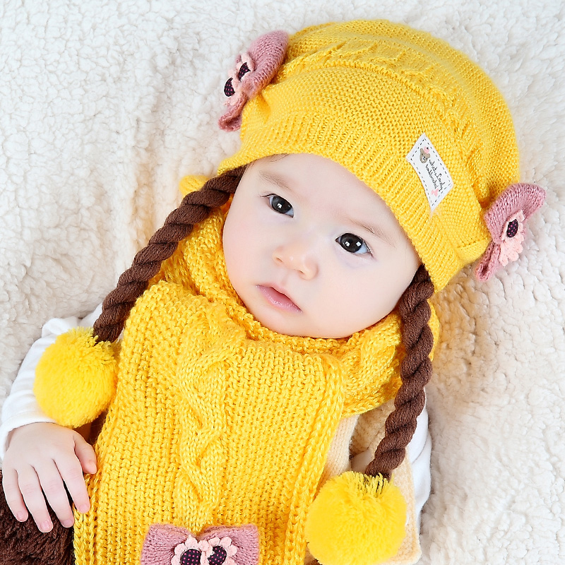 Buy Baby hat in autumn and winter 6-12-18 months 1-2-year-old winter korean  version of the little girl wig cap beanie baby hat in Cheap Price on  m.alibaba. ... 14e6906dc37