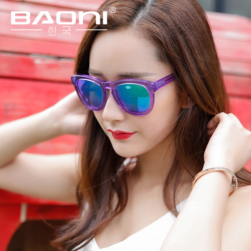 2f8eddf18d Bao nigeria 2015 new small chili color film reflective sunglasses polarized  sunglasses female tide female star models sunglasses