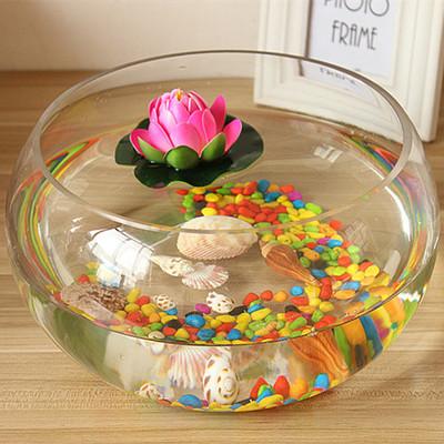Buy Bowl Lotus Flower Pots Round Glass Vase Clear Glass Vase
