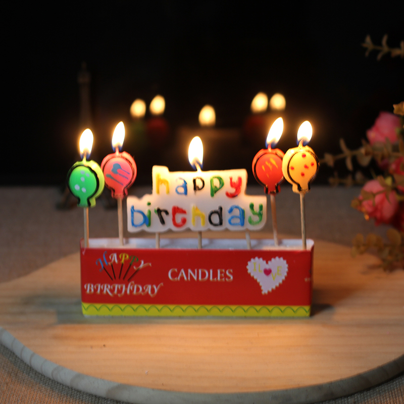 Buy Cartoon Magic Flame Balloons Happy Birthday Cake Candle With A Toothpick In Cheap Price On Malibaba