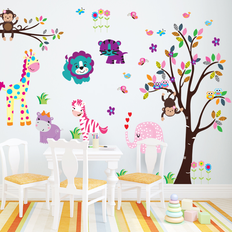 Buy Cartoon tree can be removed from the painting the living room ...