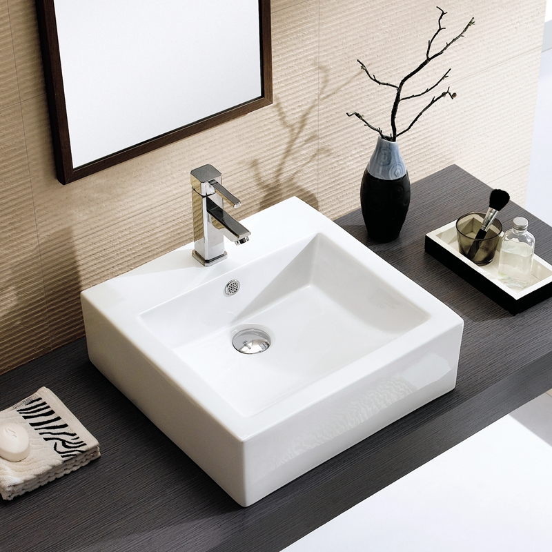 Ceramic Counter Basin Wash Bathroom Thin Edge Of A Large Square Art Sink Vanity Washbasin In Price On M Alibaba