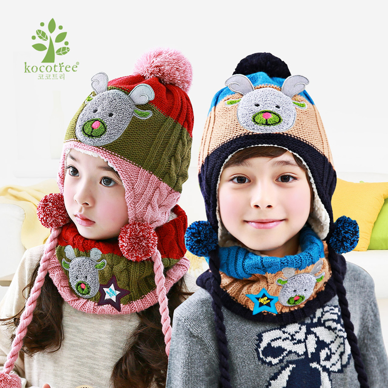 21cb7264 Buy Children's christmas elk winter hat scarf piece cotton flax boys  and girls ages baby suit tide in Cheap Price on m.alibaba.com