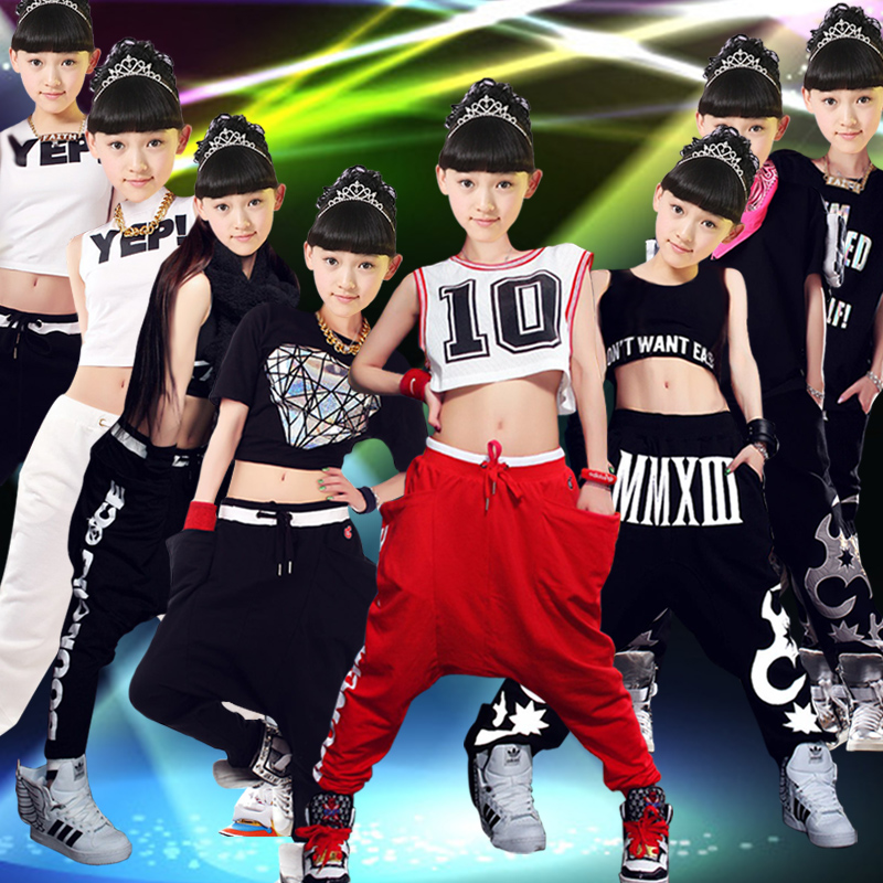 0c300b4cc Buy Children's clothing hip-hop jazz dance costumes ds stage  performance clothing clothing children's hip-hop summer new women in  Cheap Price on ...