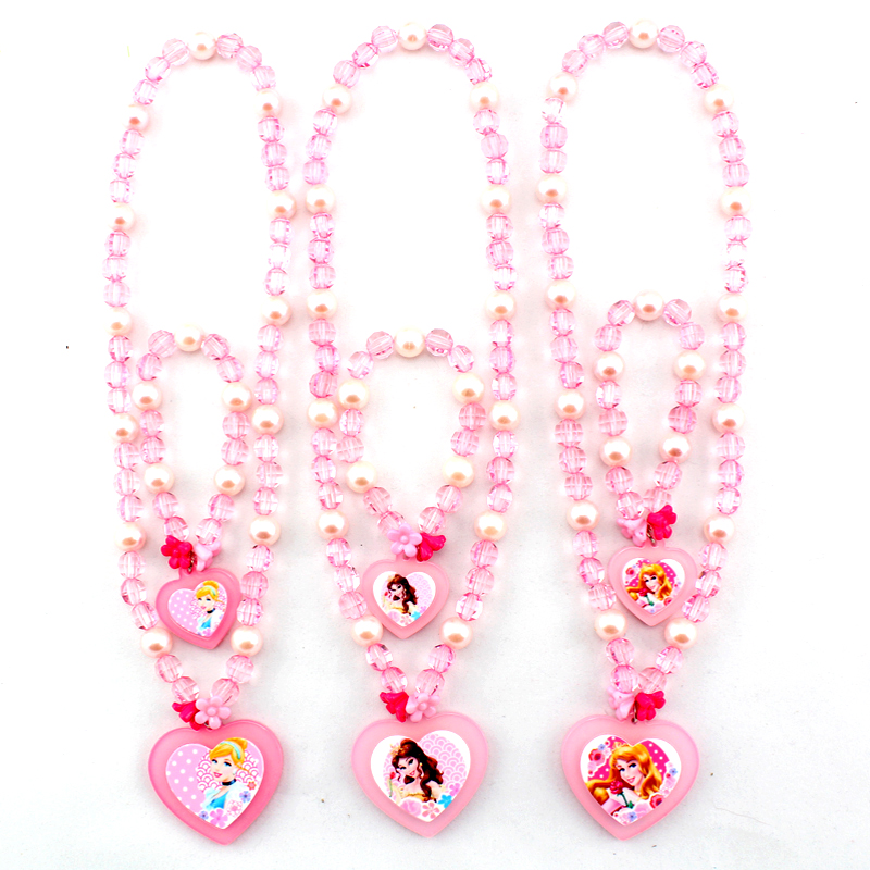 Children S Gifts Authentic Disney Princess Necklace Bracelet Set Baby Jewelry Accessories