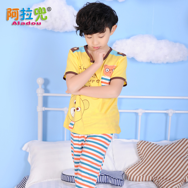Buy Children  39 s summer male baby pajamas thin section summer pajamas  short sleeve cotton pajamas boys pajamas kids tracksuit in Cheap Price on  m.alibaba. ... 287de71b6