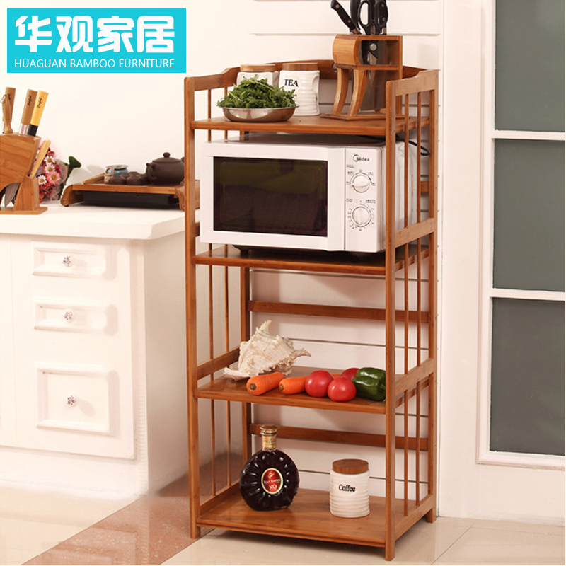 Chinese Concept Of Bamboo Floor Bathroom Wall Shelf Microwave Oven Rack Shelving Racks 2 Layer 3 Broasted Fw6ncqec Box Wood Frame In Price