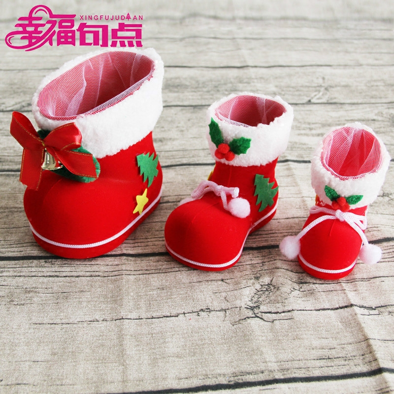 Buy Christmas Decoration Christmas Gift Ideas Christmas Eve Christmas Candy Bags Candy Shoes Boots Small Gift In Cheap Price On Alibaba Com