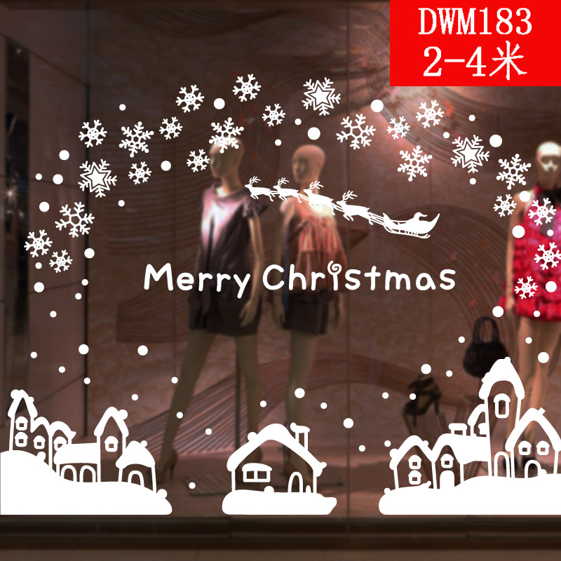 buy christmas decoration mall restaurant shop window decoration painting christmas snowflake decoration piece sticker free shipping in cheap price on