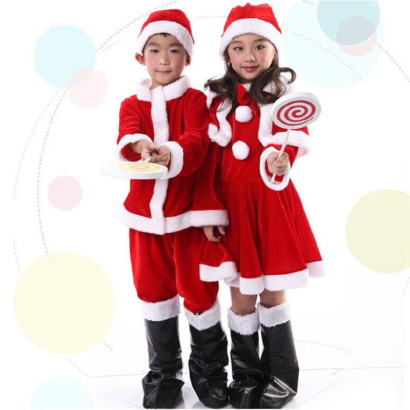 buy christmas santa claus costume dress christmas childrens costumes performance clothing for boys and girls gold velvet in cheap price on malibaba