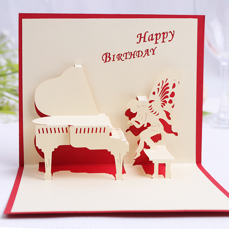 Buy Cocoa daiyi stereoscopic 3d handmade greeting cards birthday ...