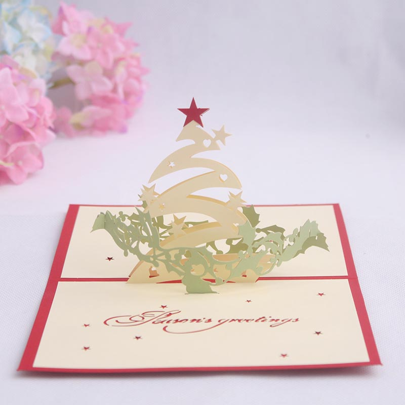 Buy commodities ni stereoscopic 3d handmade greeting cards creative commodities ni 3d stereoscopic handmade paper greeting card business greeting card christmas new year greeting card christmas tree reheart Image collections