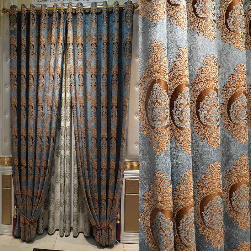 Continental Thick Chenille Curtains Living Room Bedroom Custom Blackout Finished Windows Upscale