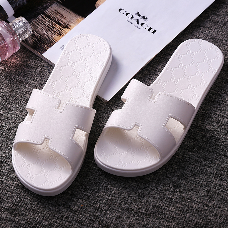 c17e1282e1b6ed Buy Couple home bath leaking plastic sandals and slippers female summer  home slippers slip bathroom slippers massage slippers men summer in Cheap  Price on ...