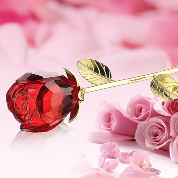 Buy Creative Birthday Gift Girls Practical Gifts Valentines Day Ideas Man Sent His Girlfriend Girlfriends Old Woman Crystal Rose In Cheap Price On