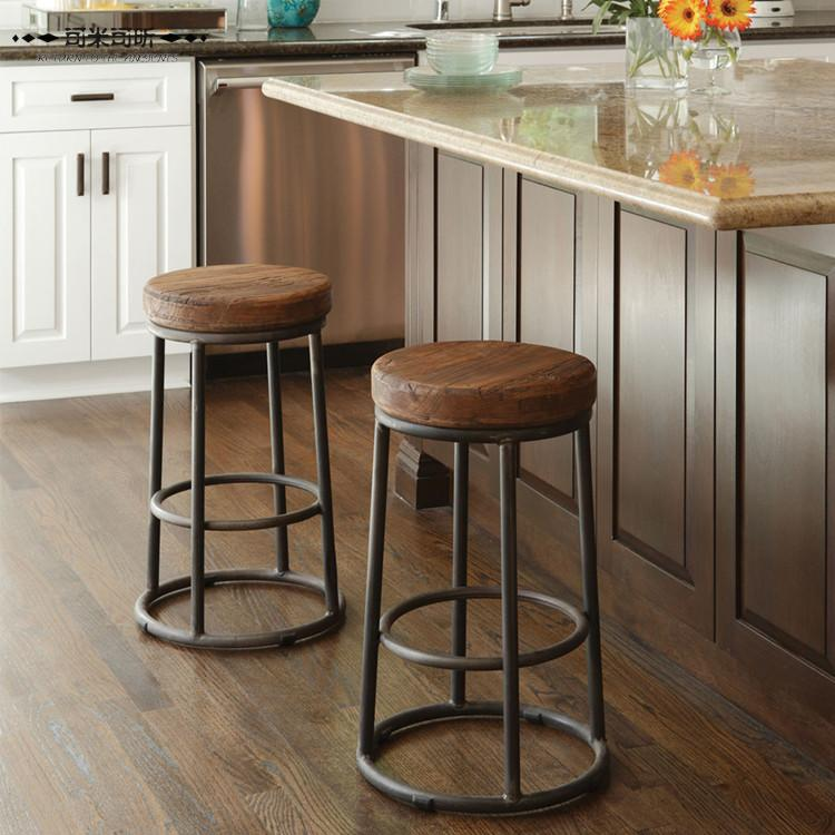 Wrought Iron Bar Chairs Wood Stools