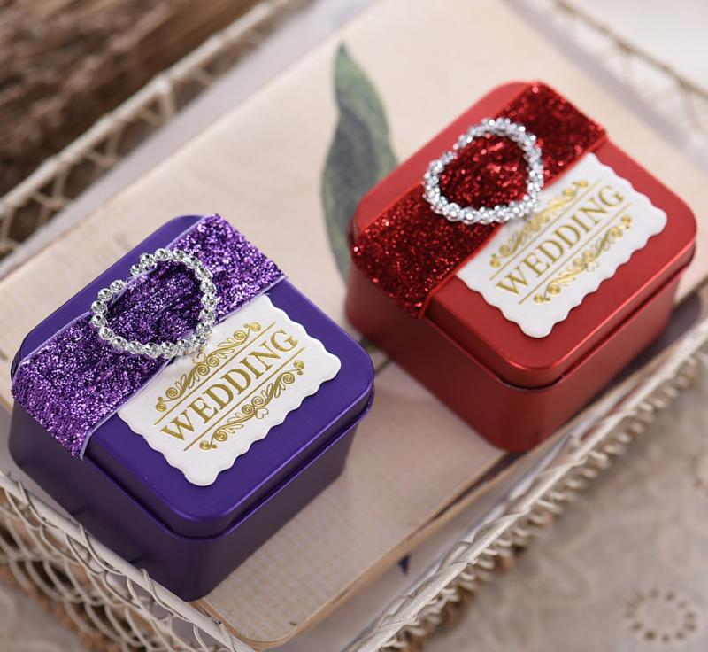 Creative Wedding Supplies Tin Box Square Candy Personalized Cardboard Color Green Onions In Price On