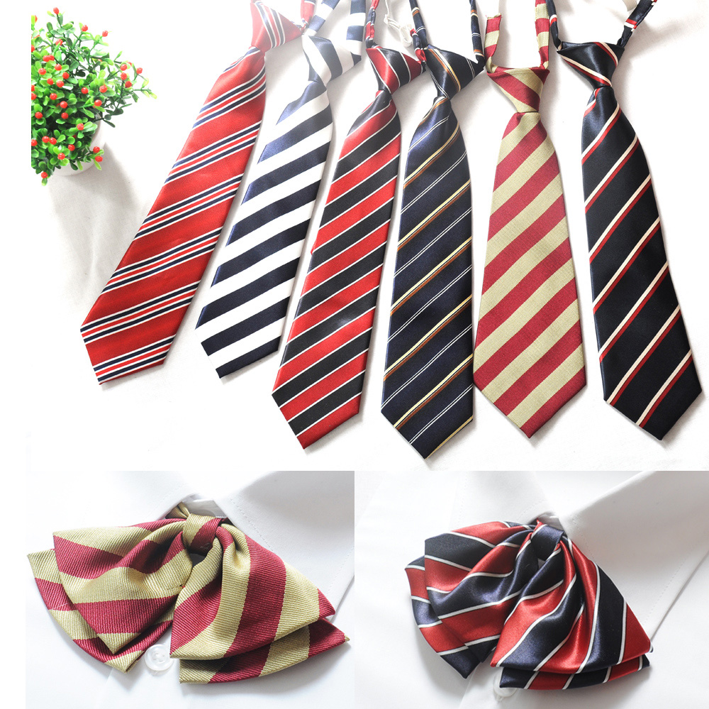 Buy customized school uniforms striped elastic tie bow tie solid buy customized school uniforms striped elastic tie bow tie solid color tie student dress custom tie in cheap price on mibaba ccuart Gallery