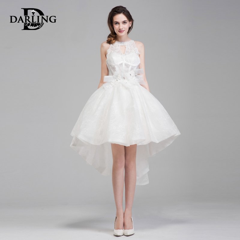 42a9a30c88 Buy Darling of the new dress short in front long sweet halter wedding dress  princess tutu dress bridesmaid dress toast clothing in Cheap Price on  m.alibaba. ...