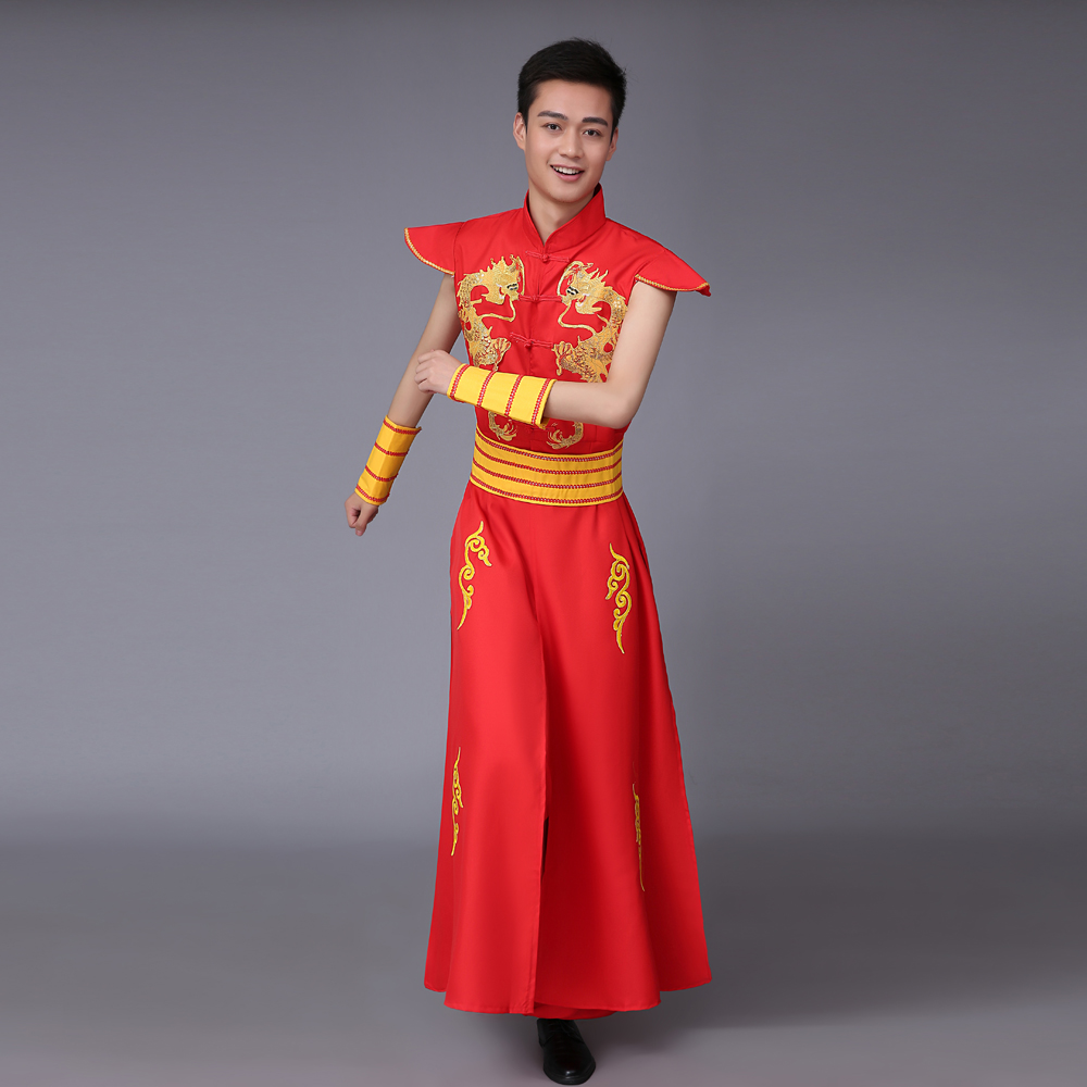 496ddaeb2 Buy Drumming performance clothing clothes and male dragon drum opening dance  clothes younger modern dance dance square dance performances in Cheap Price  on ...