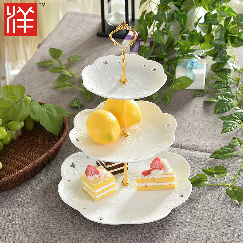 Buy Euclidian plate three fruit cake pan cake pan cake rack ...