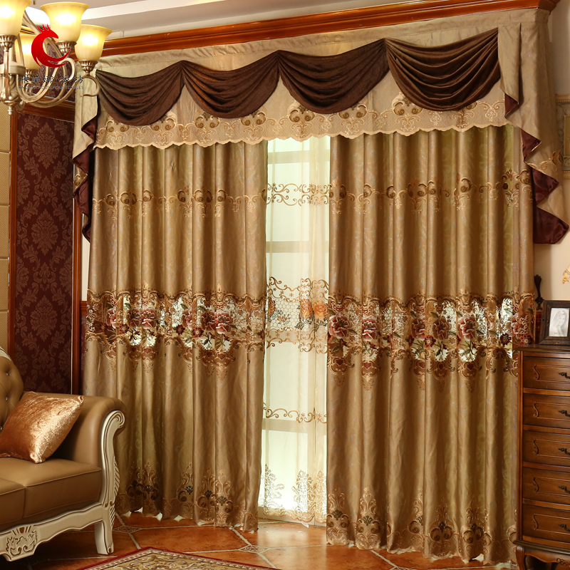 Buy European Luxury Living Room Marriage Room Curtains Bedroom Luxury Gold  Embroidered Full Blackout Window Yarn Custom Curtain Cloth Curtain Of Yu In  Cheap ...