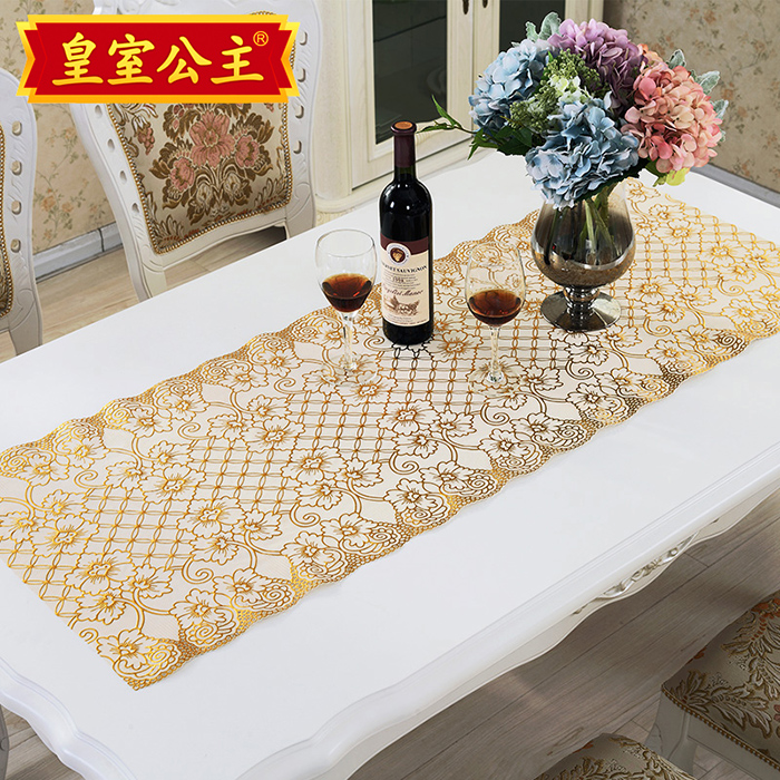 European Pvc Gilt Tablecloth Tv Cabinet Dresser Nightstand Cover Coffee Table Mat Runner Fabric Cloth Custom In Price On